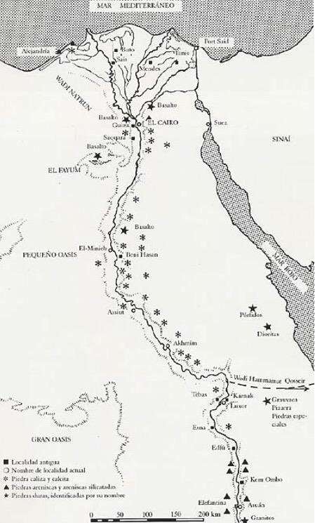 Mapa Del Antiguo Egipto Blanco Y Negro.Trabajo De Piedra Politica Y Otras Cosas